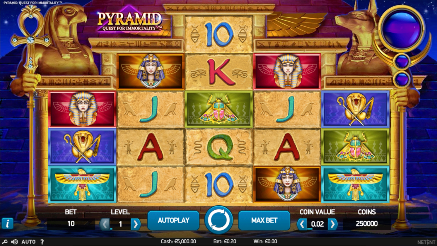 Pyramid: Quest for Immortality™ (NetEnt)