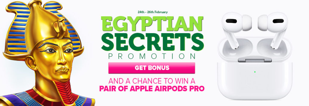 Casinoluck: Egyptian Secrets Promo