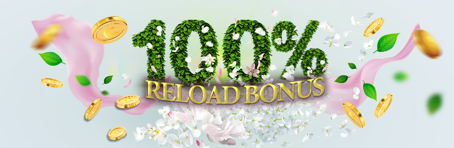 100% Reload Bonus + 100 Freespins at Casinoclub