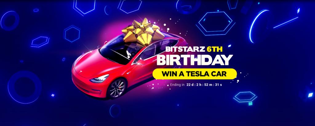 Win a Tesla Model 3 at Bitstarz